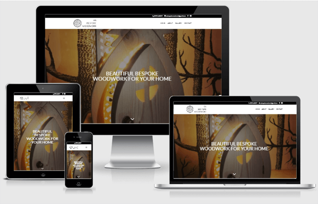 Screenshot of Moseley Moon website design across a range of devices